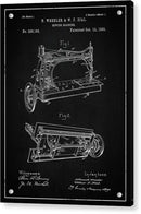 Vintage Sewing Machine Patent, 1885 - Acrylic Print from Wallasso - The Wall Art Superstore