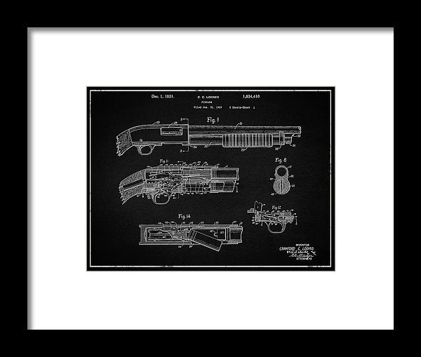 Vintage Shotgun Patent, 1929 - Framed Print from Wallasso - The Wall Art Superstore