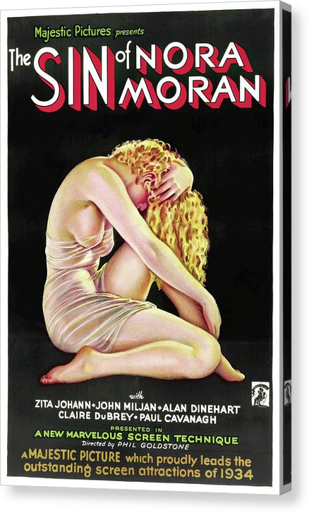 Vintage Sin of Nora Moran Movie Poster, 1933 - Canvas Print from Wallasso - The Wall Art Superstore