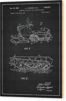 Vintage Snow Mobile Patent, 1969 - Wood Print from Wallasso - The Wall Art Superstore