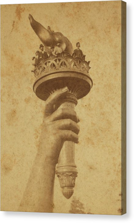 Vintage Statue of Liberty Torch - Canvas Print from Wallasso - The Wall Art Superstore
