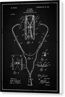 Vintage Stethoscope Patent, 1903 - Canvas Print from Wallasso - The Wall Art Superstore