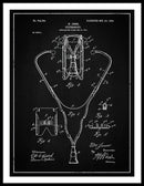 Vintage Stethoscope Patent, 1903 - Framed Print from Wallasso - The Wall Art Superstore