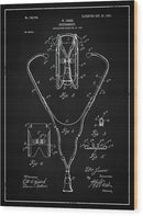 Vintage Stethoscope Patent, 1903 - Wood Print from Wallasso - The Wall Art Superstore