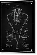 Vintage Stethoscope Patent, 1903 - Acrylic Print from Wallasso - The Wall Art Superstore