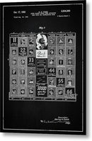 Vintage Stock Market Board Game Patent, 1950 - Metal Print from Wallasso - The Wall Art Superstore