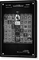 Vintage Stock Market Board Game Patent, 1950 - Acrylic Print from Wallasso - The Wall Art Superstore