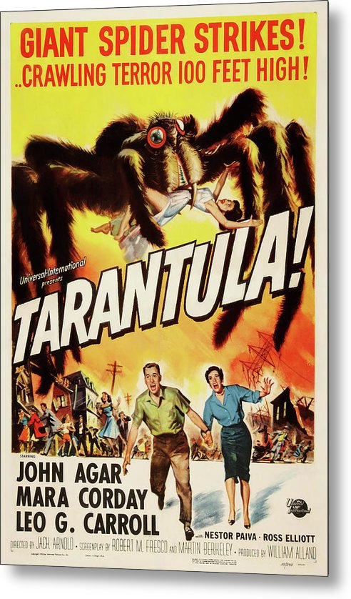 Vintage Tarantula Movie Poster, 1961 - Metal Print from Wallasso - The Wall Art Superstore