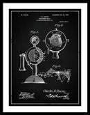 Vintage Telephone Patent, 1905 - Framed Print from Wallasso - The Wall Art Superstore