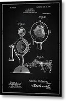 Vintage Telephone Patent, 1905 - Metal Print from Wallasso - The Wall Art Superstore