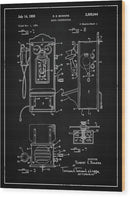 Vintage Telephone Patent - Wood Print from Wallasso - The Wall Art Superstore