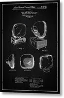 Vintage Television Patent, 1958 - Metal Print from Wallasso - The Wall Art Superstore