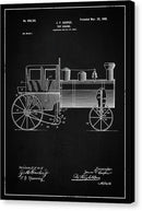 Vintage Toy Train Engine Patent, 1902 - Canvas Print from Wallasso - The Wall Art Superstore