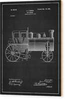 Vintage Toy Train Engine Patent, 1902 - Wood Print from Wallasso - The Wall Art Superstore