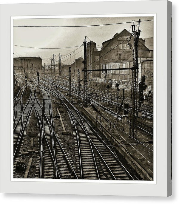 Vintage Train Yard - Canvas Print from Wallasso - The Wall Art Superstore