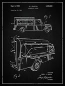 Vintage Truck Camper Patent, 1968 - Art Print from Wallasso - The Wall Art Superstore