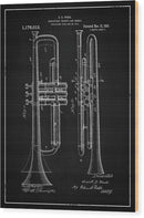 Vintage Trumpet Patent, 1916 - Wood Print from Wallasso - The Wall Art Superstore