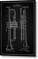 Vintage Trumpet Patent, 1916 - Metal Print from Wallasso - The Wall Art Superstore