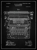 Vintage Typewriter Patent, 1899 - Art Print from Wallasso - The Wall Art Superstore
