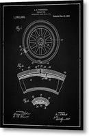 Vintage Vehicle Tire Patent, 1913 - Metal Print from Wallasso - The Wall Art Superstore