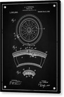 Vintage Vehicle Tire Patent, 1913 - Acrylic Print from Wallasso - The Wall Art Superstore