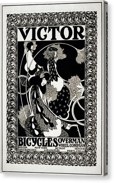 Vintage Victor Bicycles Overman Wheel Company Poster, 1895 - Canvas Print from Wallasso - The Wall Art Superstore