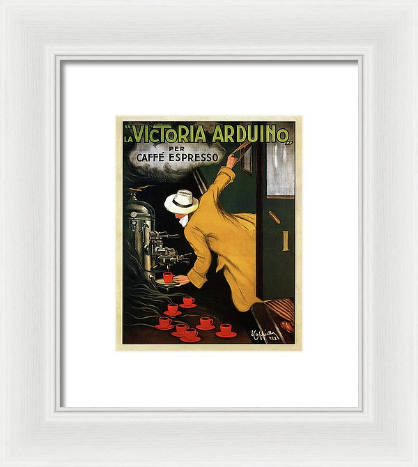 Vintage Victoria Arduino Espresso Machine Poster, 1922 - Framed Print from Wallasso - The Wall Art Superstore