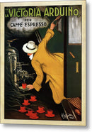 Vintage Victoria Arduino Espresso Machine Poster, 1922 - Metal Print from Wallasso - The Wall Art Superstore