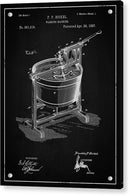 Vintage Washing Machine Patent, 1887 - Acrylic Print from Wallasso - The Wall Art Superstore