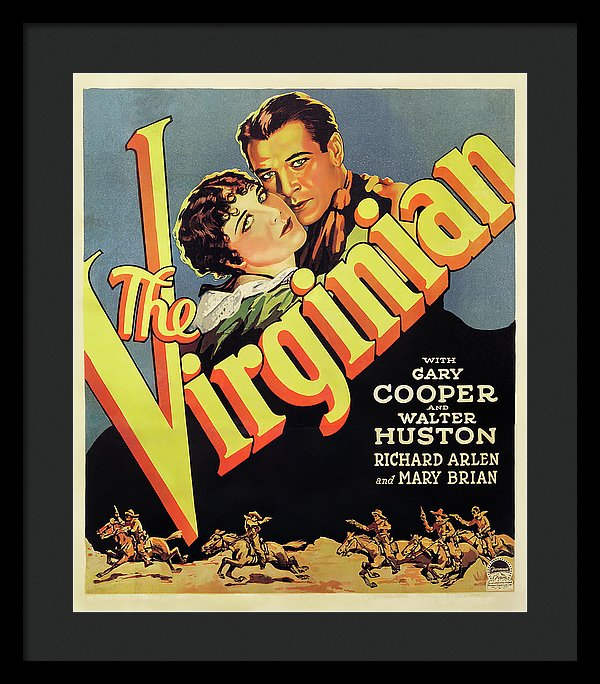 Vintage Western The Virginian Movie Poster, 1929 - Framed Print from Wallasso - The Wall Art Superstore