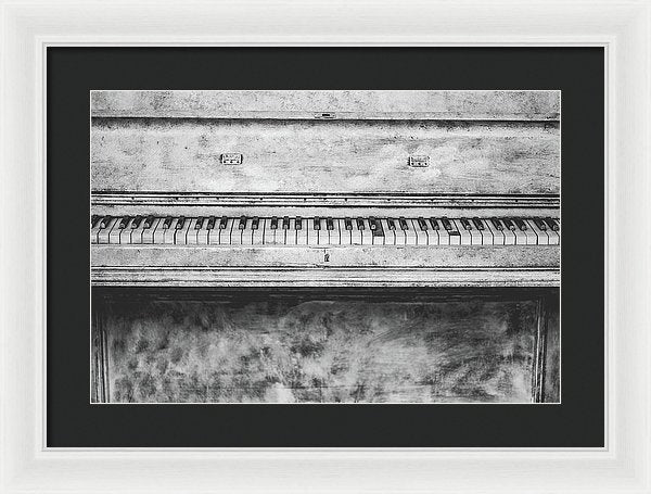 Vintage White Piano - Framed Print from Wallasso - The Wall Art Superstore