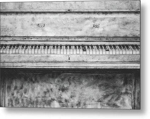 Vintage White Piano - Metal Print from Wallasso - The Wall Art Superstore