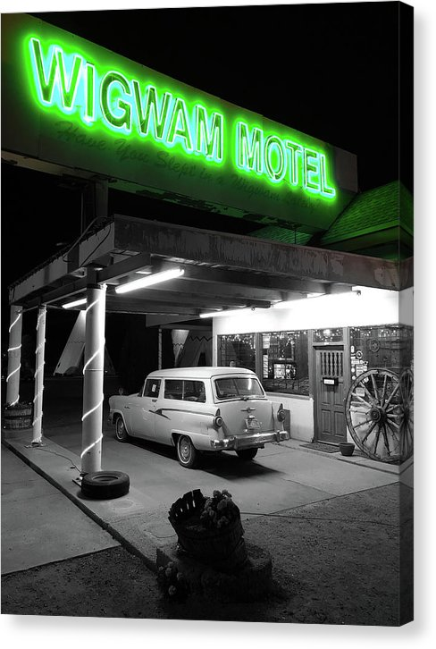 Vintage Wigwam Motel On Route 66 - Canvas Print from Wallasso - The Wall Art Superstore