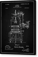 Vintage Wine Press Patent, 1903 - Acrylic Print from Wallasso - The Wall Art Superstore