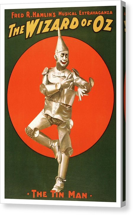 Vintage Wizard of Oz Tin Man Poster - Canvas Print from Wallasso - The Wall Art Superstore
