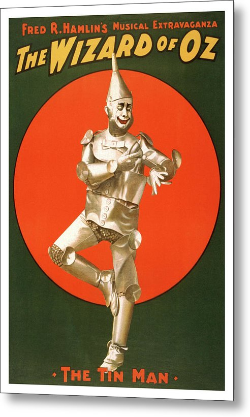 Vintage Wizard of Oz Tin Man Poster - Metal Print from Wallasso - The Wall Art Superstore
