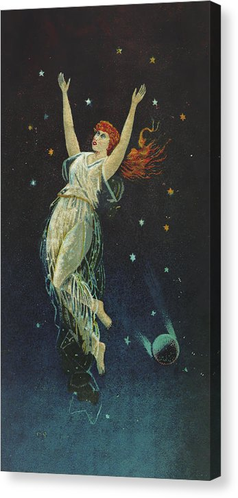 Vintage Woman In Space, 1890 - Canvas Print from Wallasso - The Wall Art Superstore