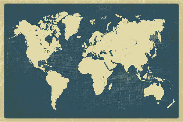Vintage World Map Design - Art Print from Wallasso - The Wall Art Superstore
