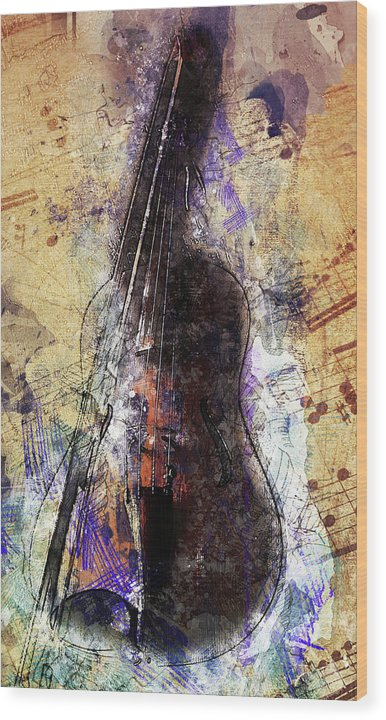 Violin Decoupage Design - Wood Print from Wallasso - The Wall Art Superstore