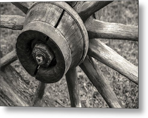 Wagon Wheel Detail - Metal Print from Wallasso - The Wall Art Superstore