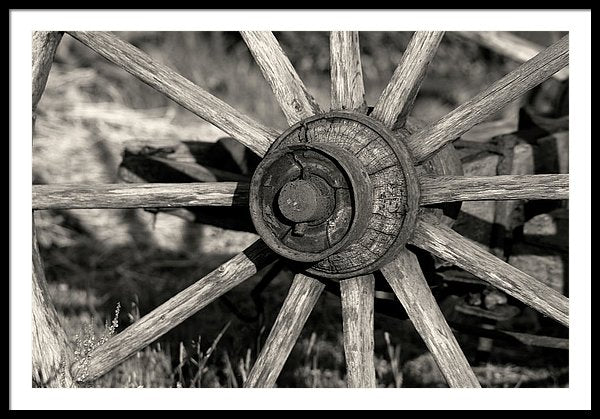 Wagon Wheel Spokes - Framed Print from Wallasso - The Wall Art Superstore