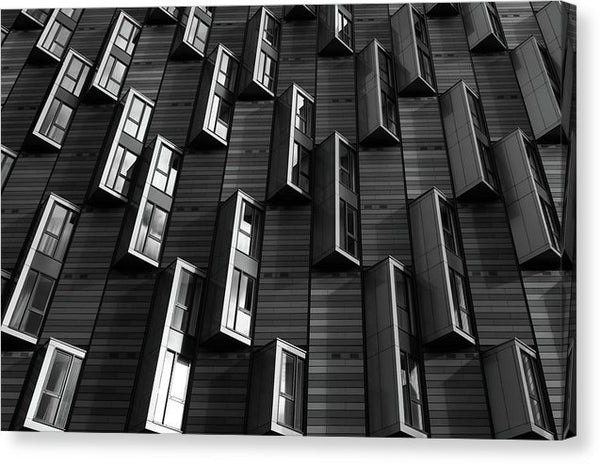 Wall of Architectural Windows - Canvas Print from Wallasso - The Wall Art Superstore