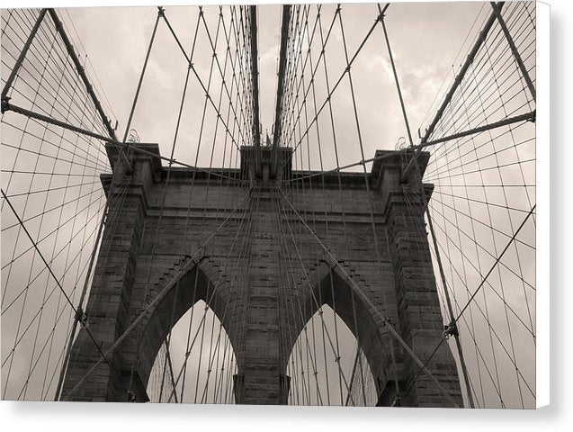 Warm Tone Brooklyn Bridge, New York City - Canvas Print from Wallasso - The Wall Art Superstore