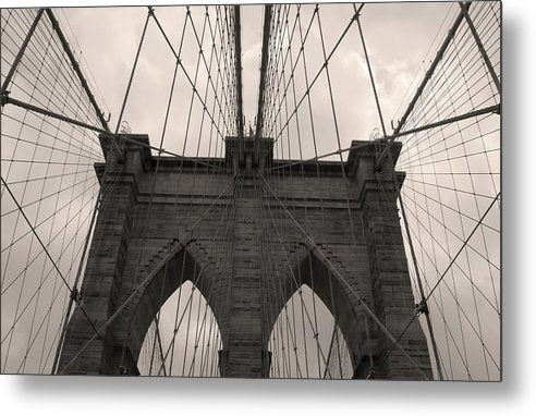 Warm Tone Brooklyn Bridge, New York City - Metal Print from Wallasso - The Wall Art Superstore