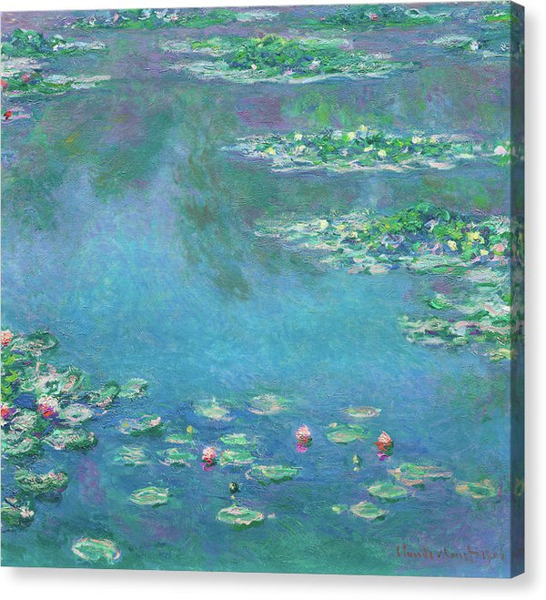 Water Lilies By Claude Monet, 1906 - Canvas Print from Wallasso - The Wall Art Superstore