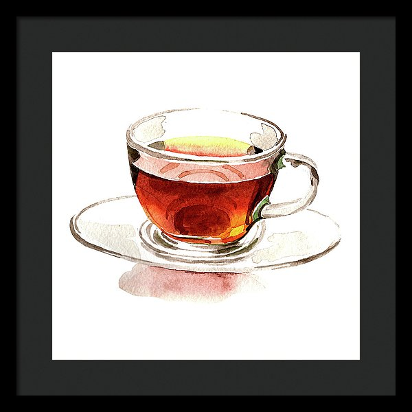 Watercolor Tea Cup Painting - Framed Print from Wallasso - The Wall Art Superstore