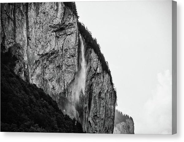 Waterfall In Switzerland - Canvas Print from Wallasso - The Wall Art Superstore
