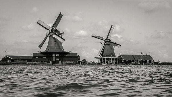 Waterfront Windmills - Art Print from Wallasso - The Wall Art Superstore