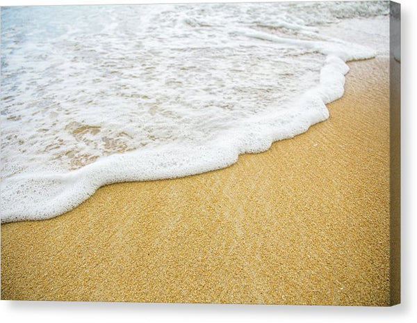 Waves Gently Lapping Beach Sand - Canvas Print from Wallasso - The Wall Art Superstore