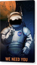 We Need You Astronaut NASA Poster - Canvas Print from Wallasso - The Wall Art Superstore